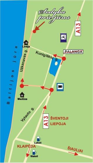Kunigiškiai, Palanga - žemėlapis